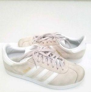ADIDAS Light Pink & White Gazelle Sneakers  Sz 8
